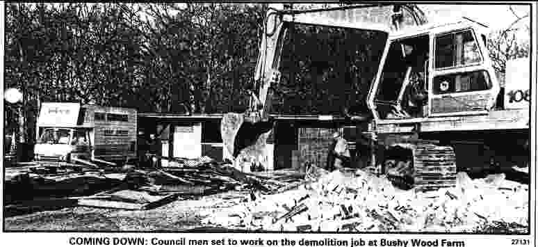 Wealden demolish the animal sanctuary at Bushy Wood and call it a small mistake