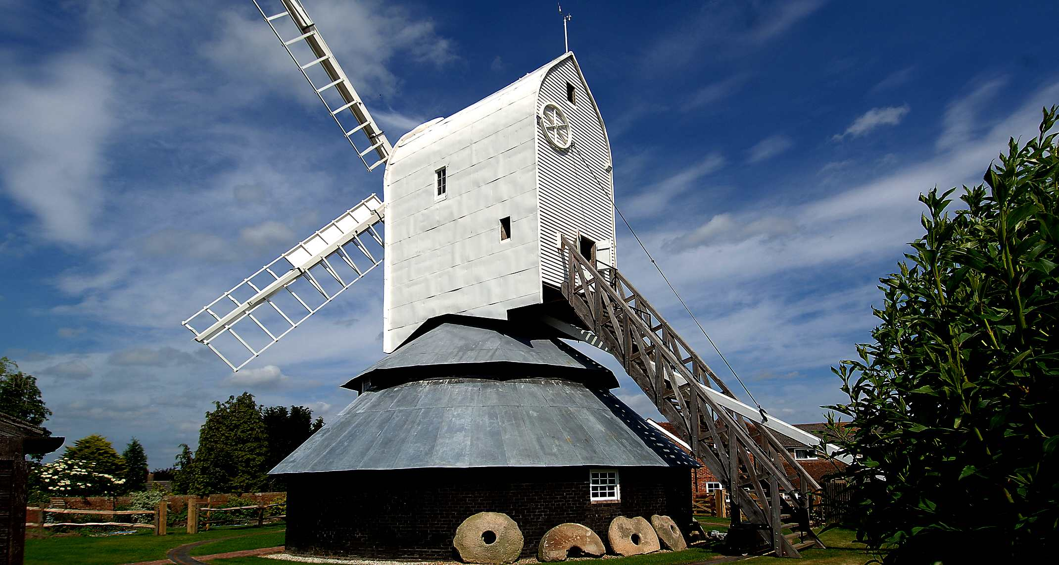 The tallest post mill in England is at Windmill Hill within the Wealden District